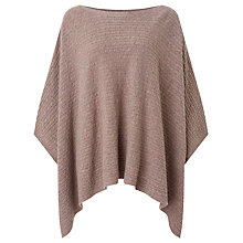 Buy John Lewis Cable Poncho, Dark Toast Online at johnlewis.com