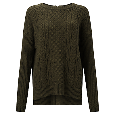 Collection WEEKEND by John Lewis Cable Knit Zip Back Jumper