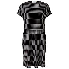 Buy Collection WEEKEND by John Lewis Stripe Jersey Midi Dress, Black/White Online at johnlewis.com
