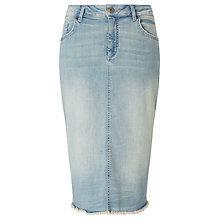 Buy Collection WEEKEND by John Lewis Denim Pencil Skirt, Bleached Blue Online at johnlewis.com