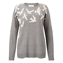 Buy Collection WEEKEND by John Lewis Bird Intarsia Jumper, Grey Online at johnlewis.com