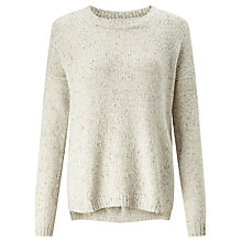 Buy Collection WEEKEND by John Lewis Cashmere Slub Crew Neck Jumper, Cream Online at johnlewis.com