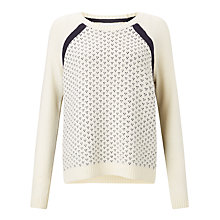 Buy Collection WEEKEND by John Lewis Fairisle Dot Jumper, Ivory Online at johnlewis.com