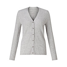 Buy John Lewis Cable V-Neck Cardigan Online at johnlewis.com