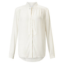 Buy Collection WEEKEND by John Lewis Pussybow Blouse, Ivory Online at johnlewis.com