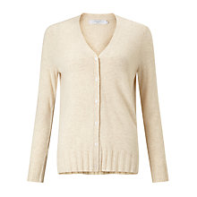 Buy John Lewis V-Neck Rib Hem Cardigan Online at johnlewis.com