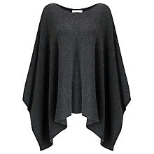 Buy John Lewis Waffle Stitch Poncho, Charcoal Online at johnlewis.com