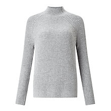 Buy John Lewis Rib Stitch Funnel Neck Jumper Online at johnlewis.com