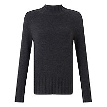 Buy John Lewis Rib Hem Funnel Neck Jumper Online at johnlewis.com