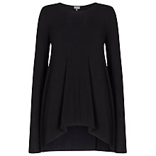 Buy Phase Eight Sally Split Back Top, Black Online at johnlewis.com