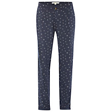 Buy White Stuff Maya Printed Trousers, Fossil Grey Online at johnlewis.com