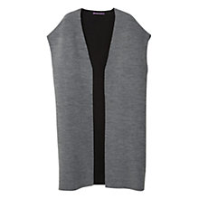Buy Violeta by Mango Long Gilet, Grey Online at johnlewis.com