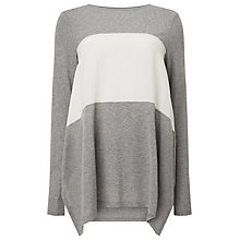 Buy Phase Eight Caroline Colour Block Top, Grey/Ivory Online at johnlewis.com