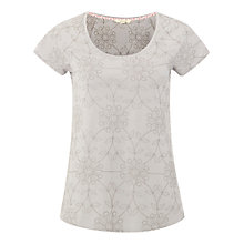 Buy White Stuff Rosanna Jersey Embroidered T-Shirt, Mono Grey Online at johnlewis.com