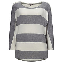 Buy Phase Eight Striped Batwing Top, Silver/Ivory Online at johnlewis.com