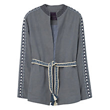Buy Violeta by Mango Embroidery Bead Jacket, Open Blue Online at johnlewis.com