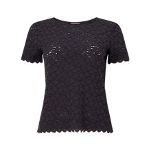 Buy Phase Eight Teagan Lace Top, Charcoal Online at johnlewis.com