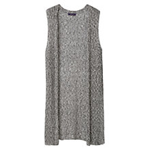 Buy Violeta by Mango Textured Cotton Gilet, Grey Online at johnlewis.com