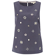 Buy White Stuff Beaded Vest, Fossil Grey Online at johnlewis.com