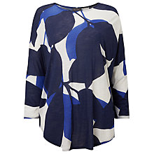 Buy Phase Eight Esme Slub Top, Blue Online at johnlewis.com