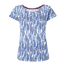 Buy White Stuff Mexican Print Top, Wash Blue Online at johnlewis.com