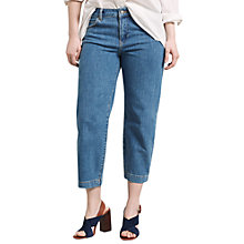Buy Violeta by Mango Cropped Jeans, Open Blue Online at johnlewis.com
