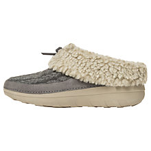 Buy Fitflop Loaff Quilted Slippers, Charcoal Online at johnlewis.com