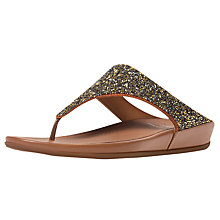 Buy Fitflop Banda Toe Post Flip Flops, Bronze Online at johnlewis.com