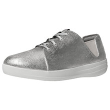Buy FitFlop Fsporty Lace Up Trainers, Silver Online at johnlewis.com