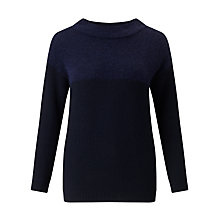 Buy Marella Barbano Contrast Knit Jumper, Navy Online at johnlewis.com