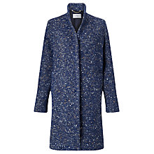 Buy Marella Ibis Wool-Blend Tweed Coat, Navy Online at johnlewis.com