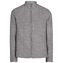 Buy Reiss Ace Zip Front Jacket, Dark Grey Online at johnlewis.com