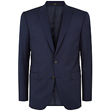 Buy Jaeger Mini Check Modern Fit Suit Jacket, Navy Online at johnlewis.com