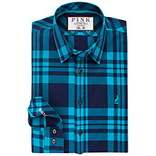 Buy Thomas Pink Keston Check Slim Fit Shirt, Navy/Turquoise Online at johnlewis.com