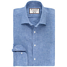 Buy Thomas Pink Riley Slim Fit Textured Linen Shirt Online at johnlewis.com