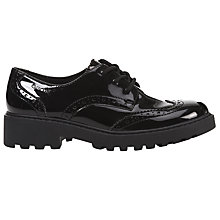 Buy Geox Children's Casey School Shoes, Black Patent Online at johnlewis.com