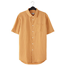 Buy Jigsaw Linen Garment Dye Short Sleeve Regular Shirt Online at johnlewis.com