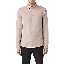 Buy AllSaints Hermosa Long Sleeve Shirt, Sphinx Pink Online at johnlewis.com