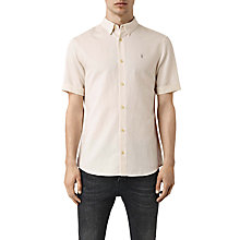 Buy AllSaints Hermosa Short Sleeve Shirt, Ecru White Online at johnlewis.com