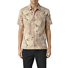 Buy AllSaints Laylan Short Sleeve Shirt, Sphinx Pink Online at johnlewis.com