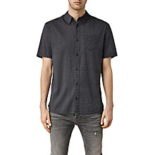 Buy AllSaints Chapter Short Sleeve Shirt, Washed Black Online at johnlewis.com
