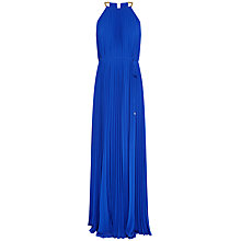 Buy Ted Baker Hannaa Pleated Maxi Dress, Bright Blue Online at johnlewis.com