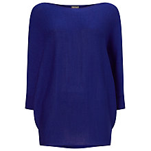 Buy Phase Eight Becca Tape Yarn Batwing Jumper, Cobalt Online at johnlewis.com