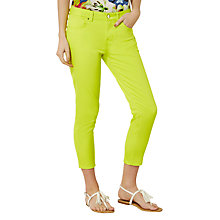 Buy Karen Millen Skinny Capri Jeans, Lime Online at johnlewis.com