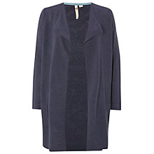 Buy White Stuff Flutter Linen-Blend Cardigan, Fossil Grey Online at johnlewis.com