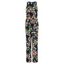 Buy Karen Millen Tropical Floral Print Jumpsuit, Multi Online at johnlewis.com