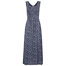 Buy Fat Face Pintuck Coins Maxi Dress, Navy Online at johnlewis.com