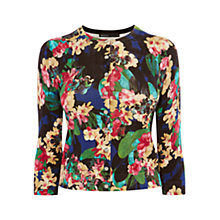 Buy Karen Millen Tropical Floral Print Cardigan, Multi Online at johnlewis.com