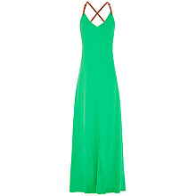 Buy Ted Baker Desile Cross Back Strap Dress, Mid Green Online at johnlewis.com