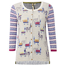 Buy White Stuff Dancing Llamas Cardigan, Multi Online at johnlewis.com